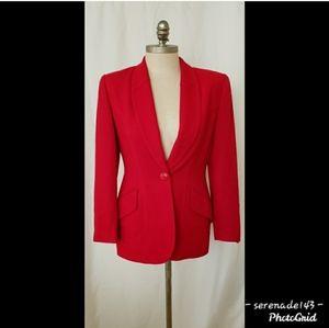 CHRISTIAN DIOR Red Blazer size 8